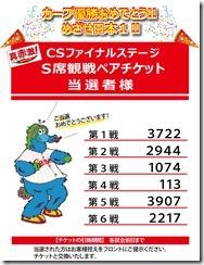 クライマックスシリーズ当選者様発表!