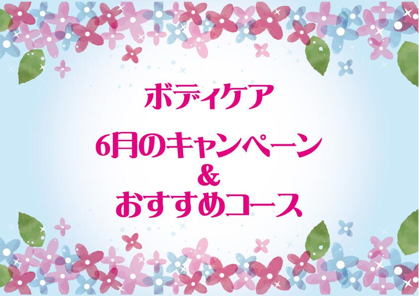 ボディケア6月のおすすめ